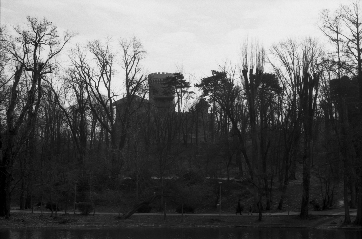 The Keep beyond trees