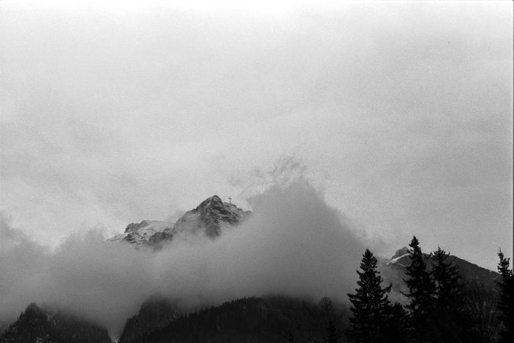 Foggy peak